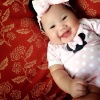 หมูชมพู ( น้องชริศา พงษ์พยอม ) อายุ 5 เดือน